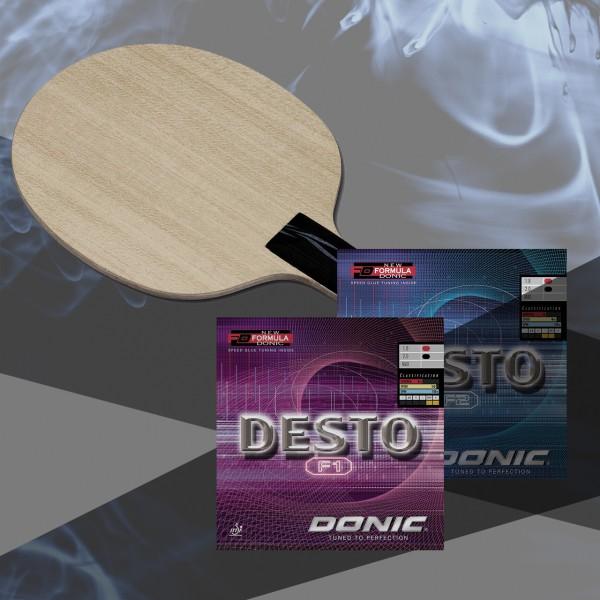 Komplettschläger DONIC Persson Powerplay / Desto F1 / Desto F2