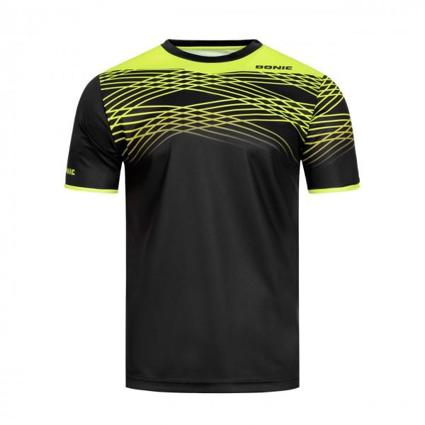Tischtennis DONIC T-Shirt Clix schwarz Brust