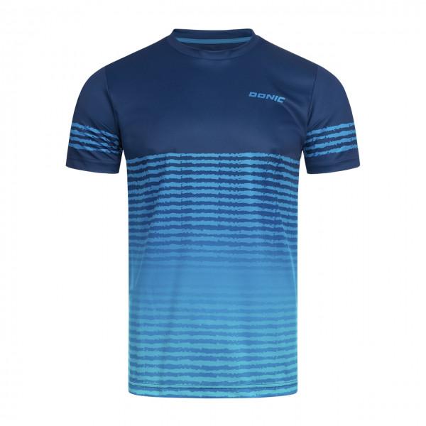 DONIC Tischtennis T-Shirt Tropic blau Brust