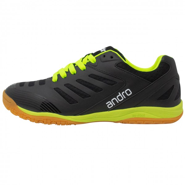 Tischtennis Schuh Andro Cross Step schwarz