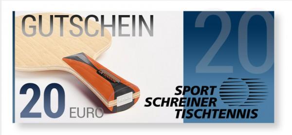 20 Euro Sport Schreiner Tischtennis Gutschein