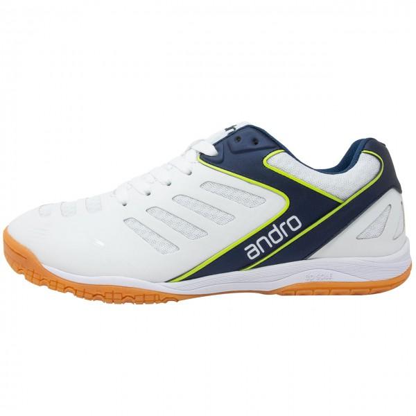 Tischtennis Schuh Andro Cross Step weiß
