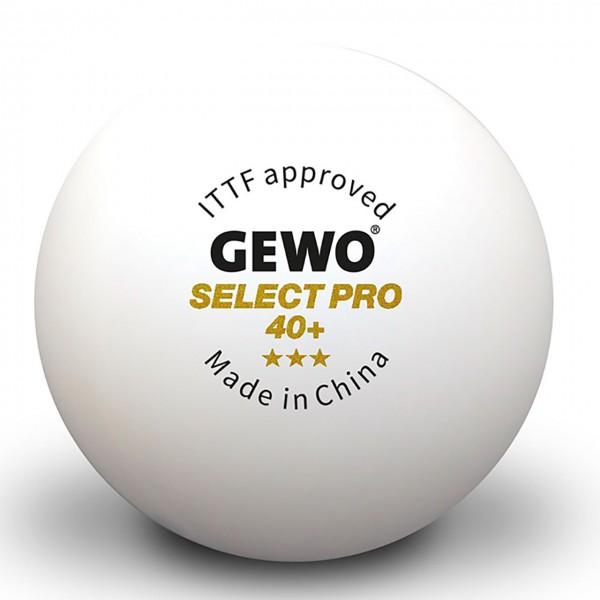 Tischtennis Ball Gewo Select Pro 40+