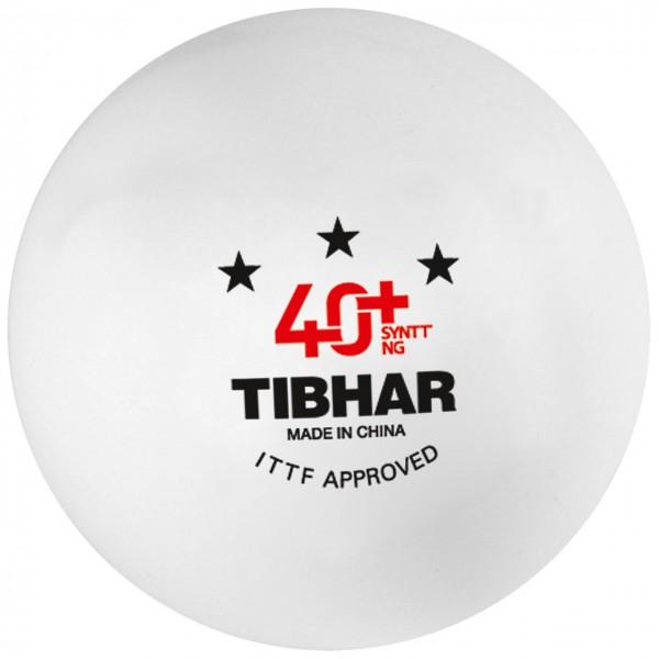 Tischtennis Ball TIBHAR SYNTT NG *** 40+ weiß