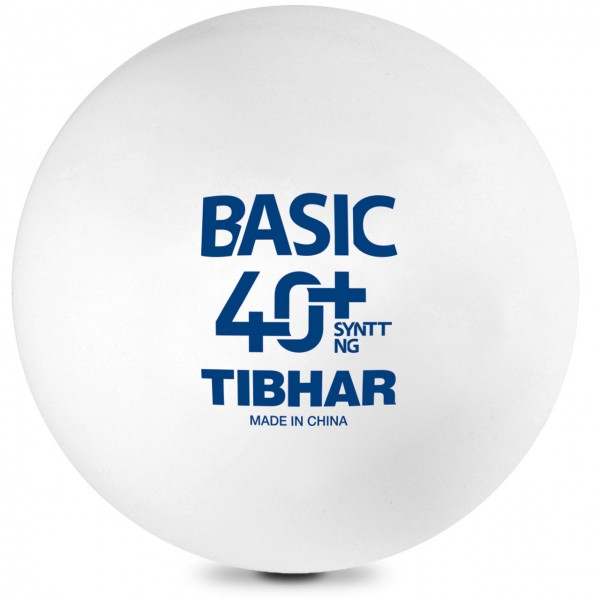 Tschtennis Ball TIBHAR Basic SynTT NG weiß