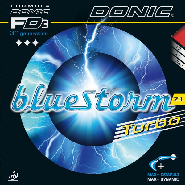 Tischtennis Belag DONIC Bluestorm Z1 Turbo Cover