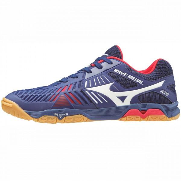 Tischtennis Schuh MIZUNO Wave Medal Z2 blau-rot