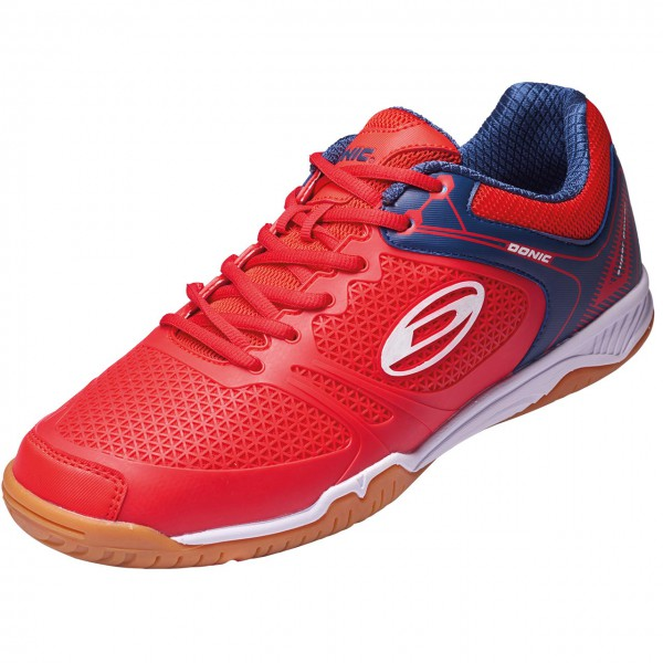 DONIC Schuh Ultra Power II rot-blau Seite