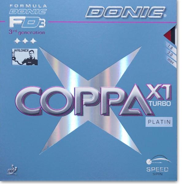 Belag DONIC Coppa X1 Turbo Platin