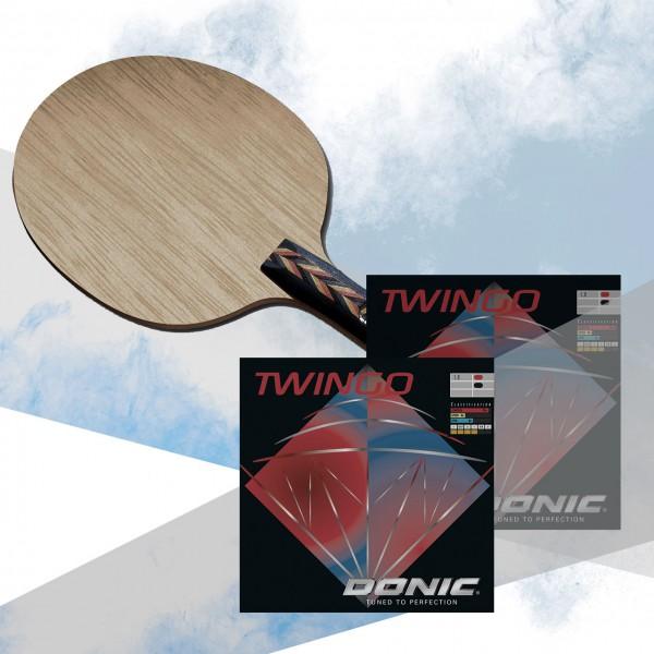 Tischtennis Komplettschläger DONIC Waldner Exclusive AR / Twingo