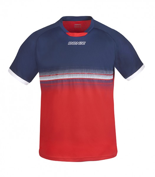 DONIC T-Shirt Traxion marine/rot