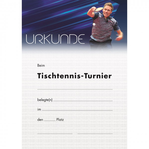 Tischtennis Urkunde Motiv Persson TT-Turnier 2019