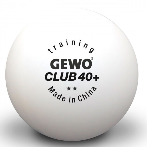 Tischtennis Trainingsball GEWO Training Club 40+ weiß