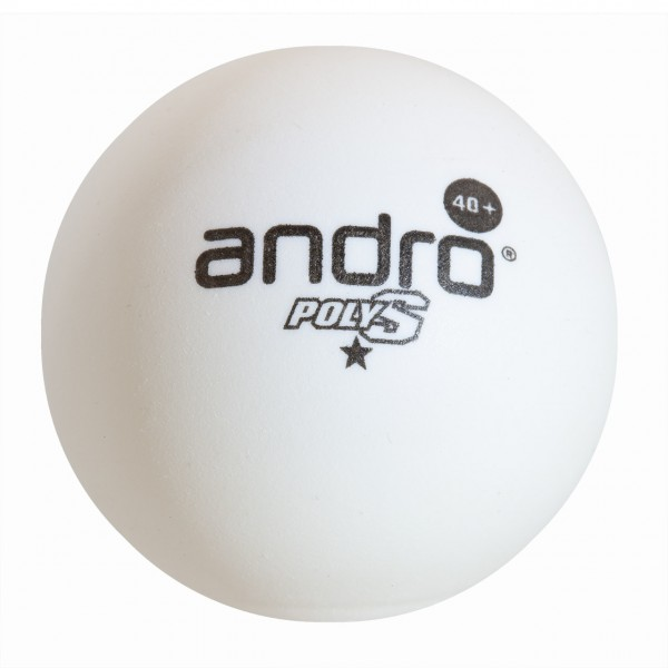 Tischtennis Trainingsball andro Poly S 1* Trainer Cell-Free