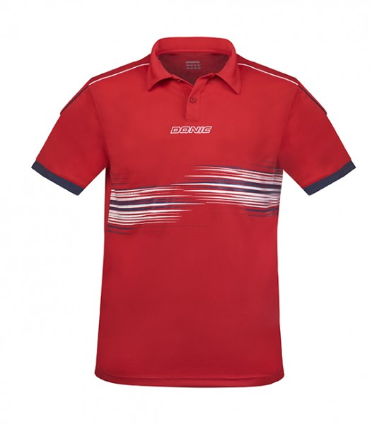 DONIC Polo-Shirt Race rot