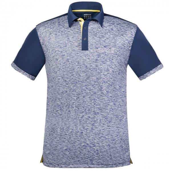 DONIC Poloshirt Melange Pro blau Brust