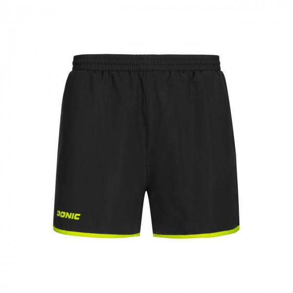 Tischtennis DONIC Shorts Loop schwarz vorne