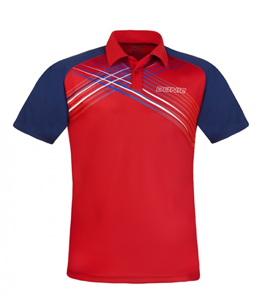 DONIC Polo-Shirt Riva rot/marine