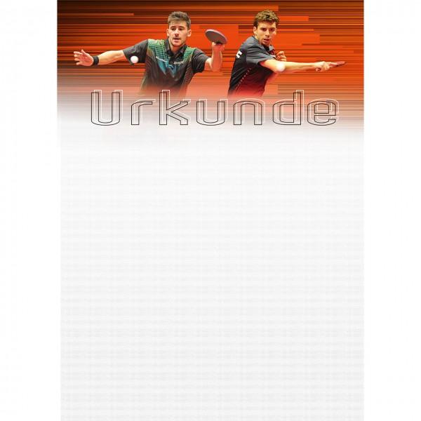 Tischtennis Urkunde Urkunde Motiv Geraldo / Dyjas