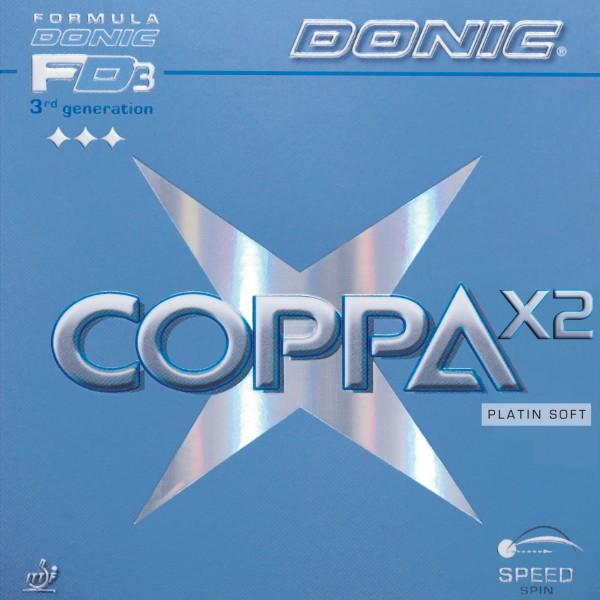 Tischtennis Belag DONIC Coppa X2 Platin Soft Cover