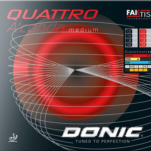 Tischtennis Belag DONIC Quattro A´Conda Medium Cover