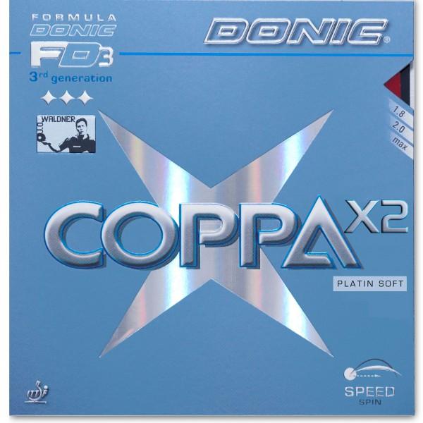 Belag DONIC Coppa X2 Platin Soft