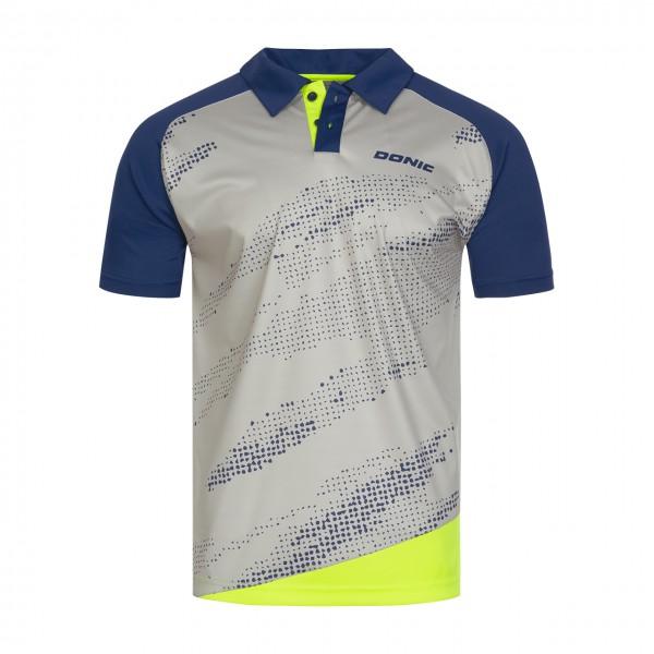 Tischtennis DONIC Poloshirt Mega grau Brust