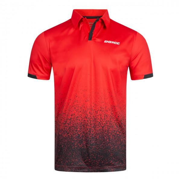 DONIC Tischtennis Polohemd Splashflex rot Brust