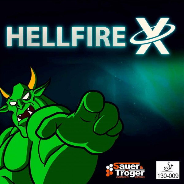 Tischtennis Belag Sauer&Tröger Hellfire X