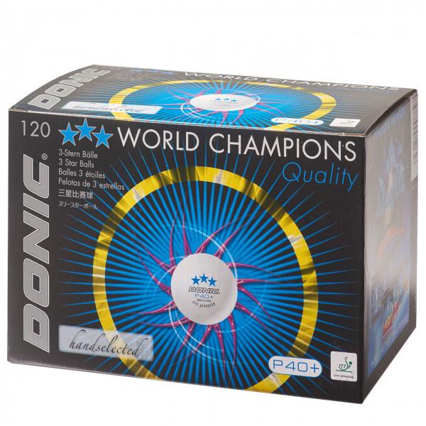 DONIC Super Ball Angebot P40+ 120 *** + P40+ 120 * Bälle