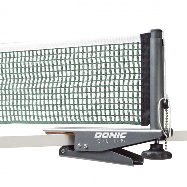 DONIC Tischtennis Netz Clip grün