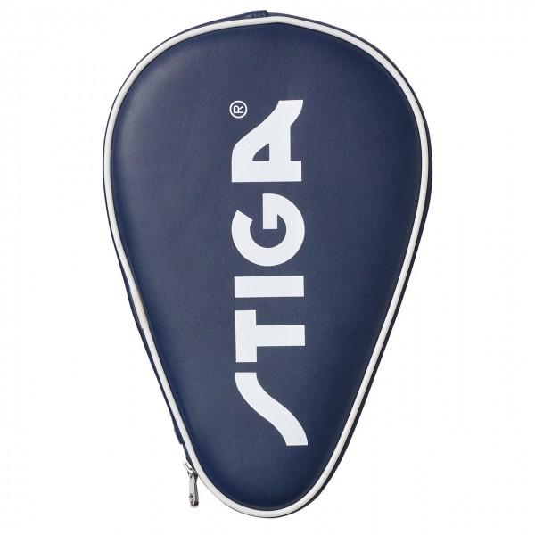Tischtennis Einzelhülle STIGA Classic oval blau Vorderseite