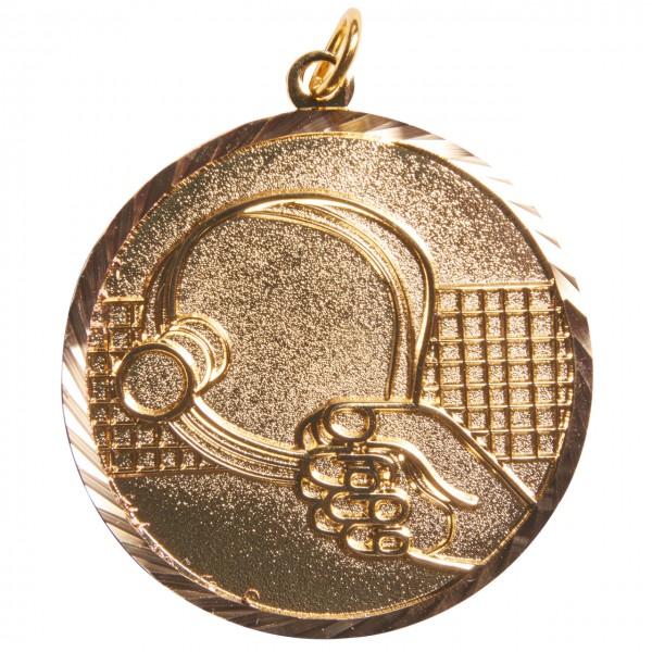 Medaille Schläger gold