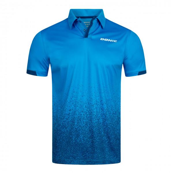 DONIC Tischtennis Polohemd Splash cyanblau Brust
