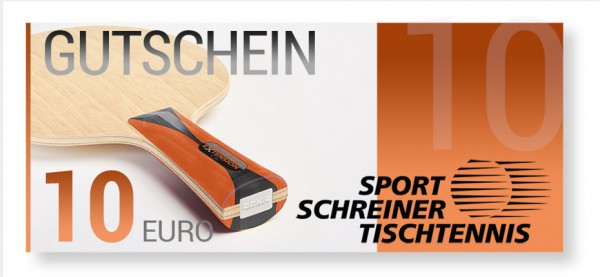 10 Euro Sport Schreiner Tischtennis Gutschein
