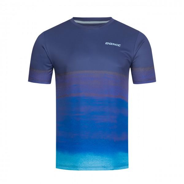 Tischtennis DONIC T-Shirt Fade blau Brust