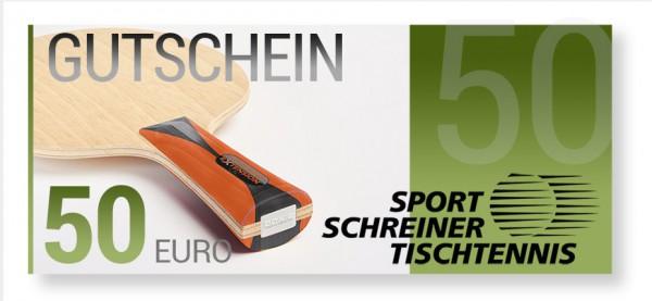 50 Euro Sport Schreiner Tischtennis Gutschein