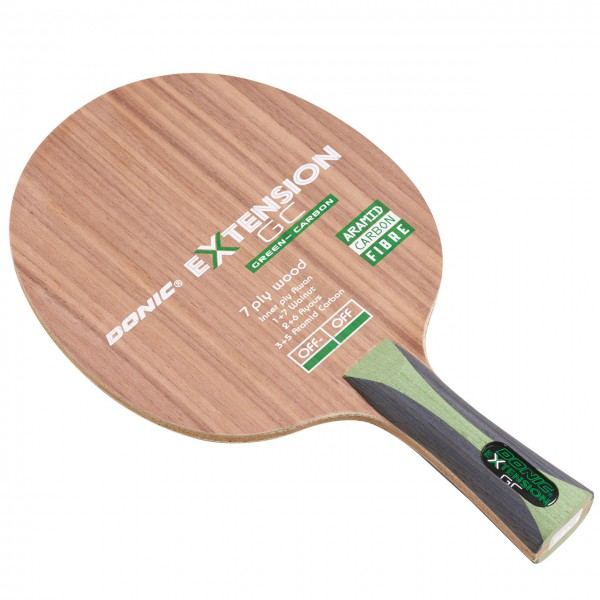 Tischtennis Holz DONIC Extension Green Carbon 02