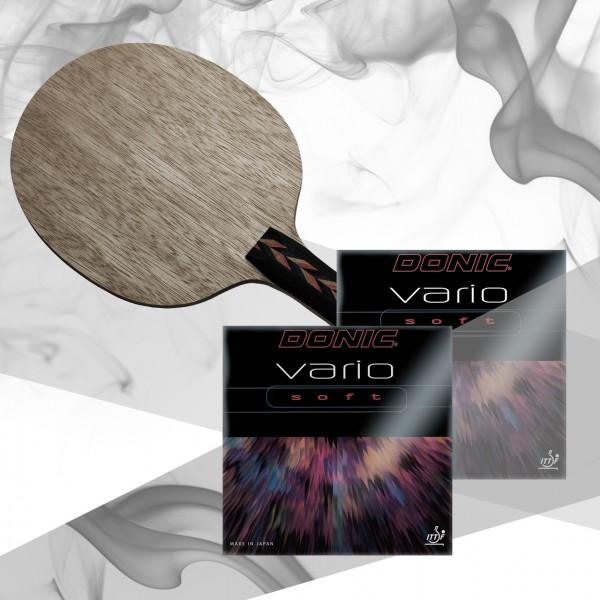 Komplettschläger DONIC Waldner Youngstar / Vario Soft