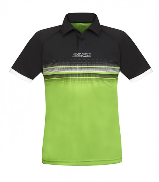 DONIC Polo-Shirt Draft schwarz/lime