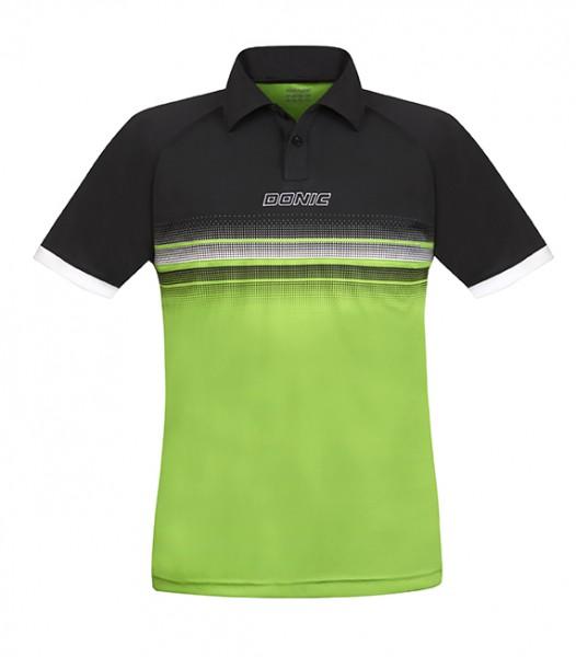 DONIC Polo-Shirt Draft schwarz/lime