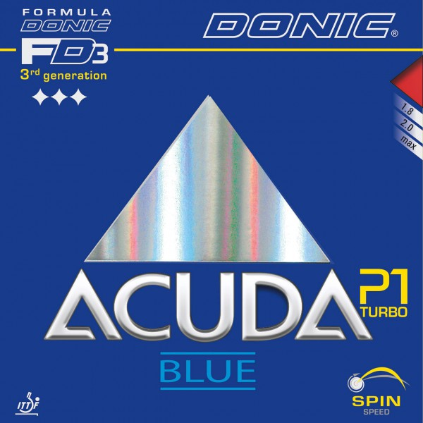 Tischtennis Belag DONIC Acuda Blue P1 Turbo Cover