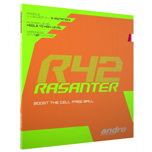 Tischtennis Belag andro Rasanter R42 Cover