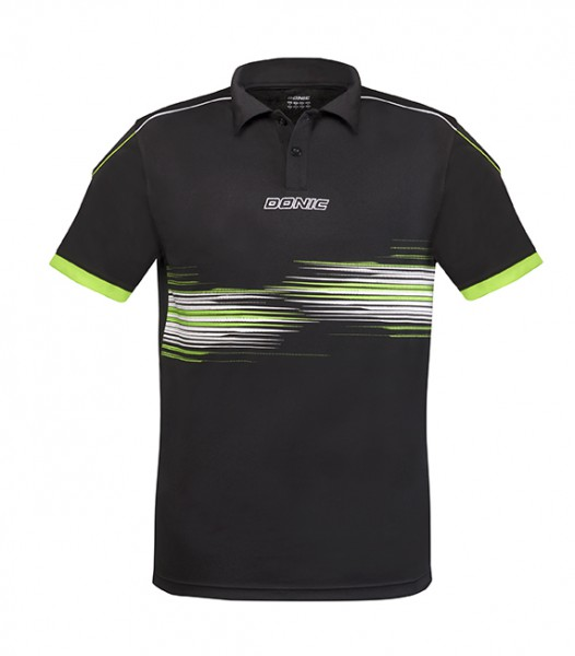 DONIC Polo-Shirt Race schwarz